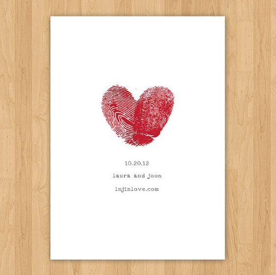 Your relationship is as unique as a fingerprint. Celebrate the uniqueness of your love story and DIY this modern save the date with paper ink and a magnet.
