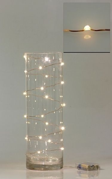 Fairylights even look pretty on the outside of a vase. Wired Fairy Lights by MarylinJ.