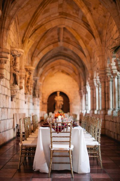 Florida wedding venue. Ancient Spanish Monastery in North Miami Beach.