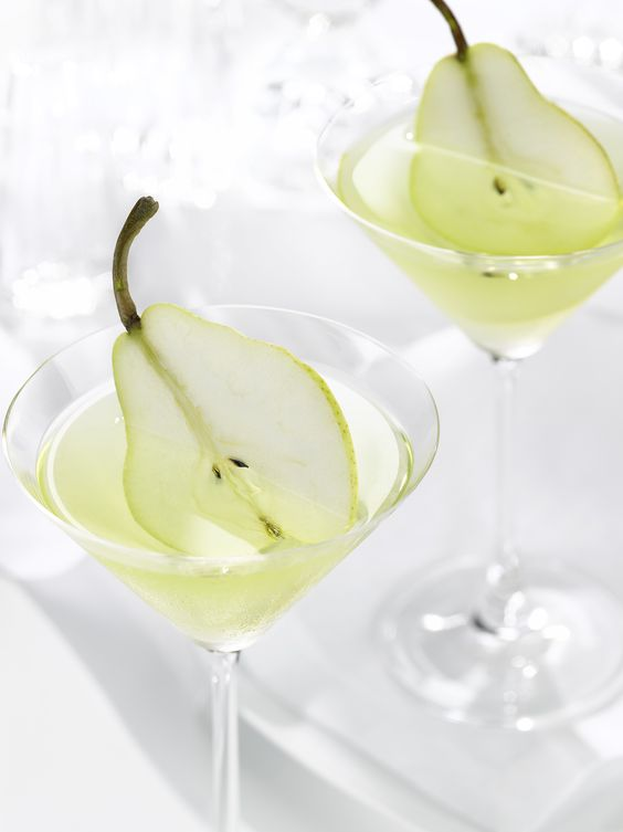 The French Pear Martini can work for any celebration style from formal dinner to brunch weddings.