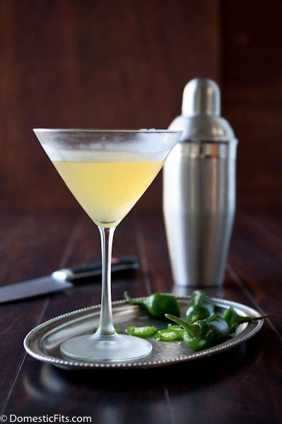 Jalapeño Peach Martini. Try one and you're hooked!