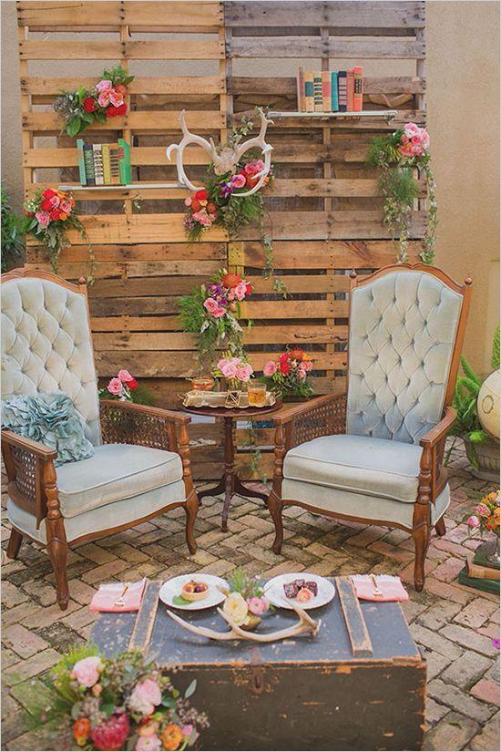 Ideas Para Matrimonio Rustico : Lounge para bodas ideas fabulosas decorar tu