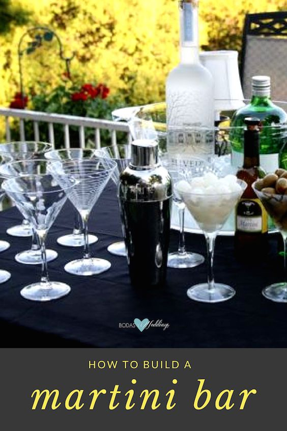Build a custom Martini Bar for your wedding reception and save on the drinks budget. Find out more on the biog!