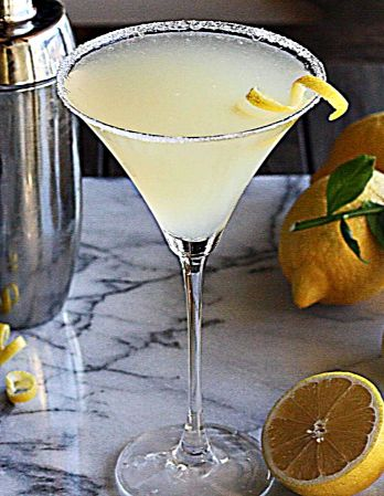 The Perfect Lemon Drop Martini. Remember to only use table or kosher salt and water for the glass rim (no margarita salt or lime, please!)