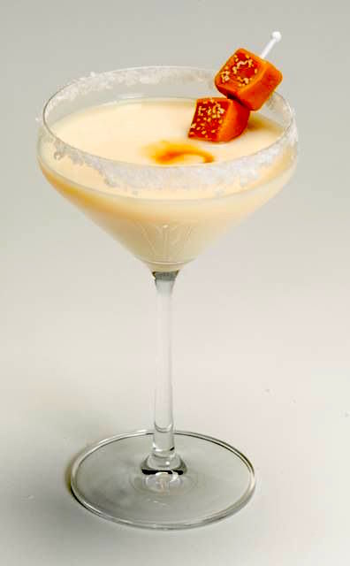 Salted Caramel Martini Recipe. 2 parts Rum Chata, 1 part caramel flavored vodka, sea salt or table salt. Rim glass with caramel. Shake ingredients with ice and strain into salted martini glass *optional* drizzle caramel in bottom of glass.