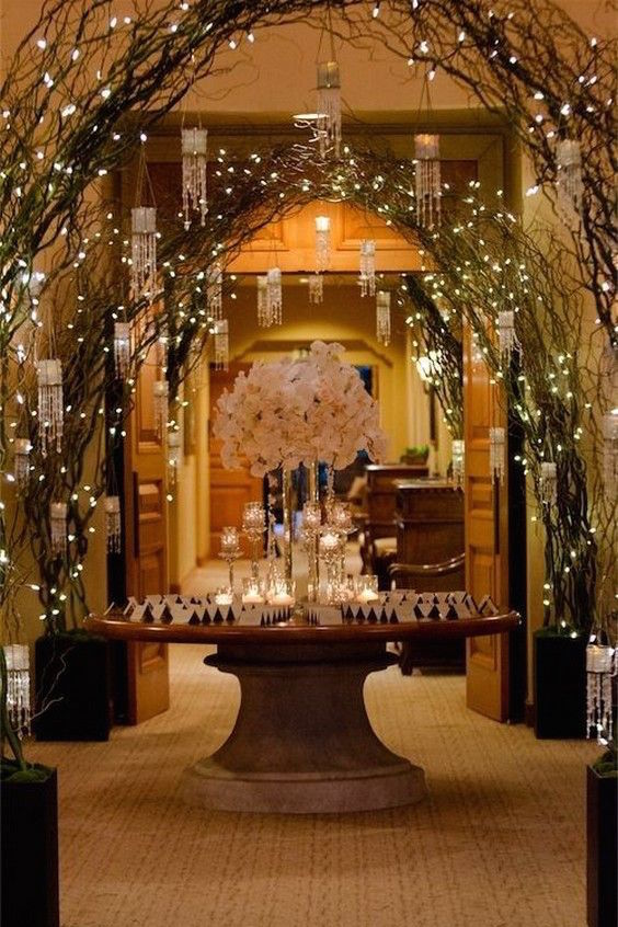 Candle & Lighted Centerpieces for Wedding Receptions: 24 Ideas
