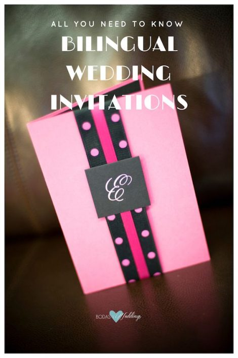 All you need to know about bilingual wedding invitations. The tumbler format.