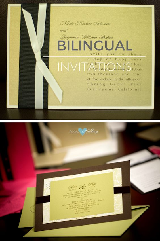 If You Are Inviting Guests That Speak Two Different Languages, Bilingual  Wedding Invitations Are Just For You!