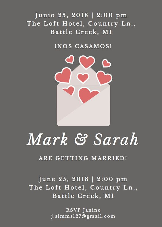 In this format the language on the top has precedence over the one on the bottom but this invitation will allow you to stay within budget and utilize letterpress, embossing and foil printing!