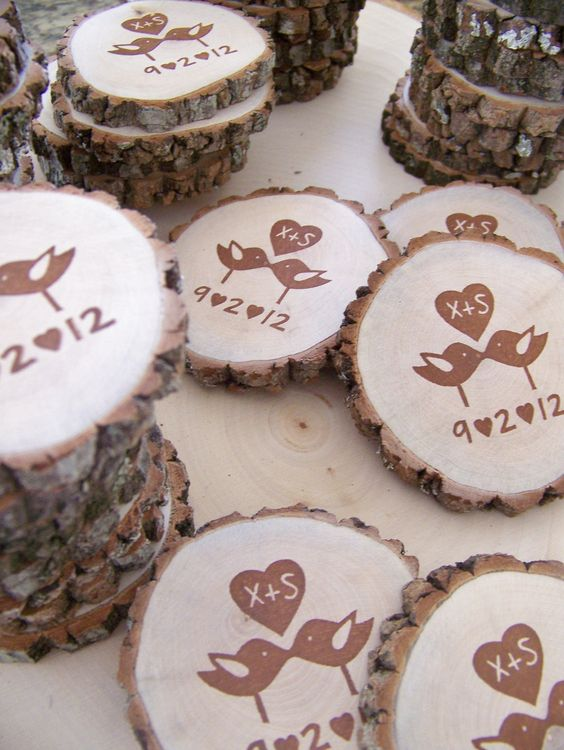 Design your own stamp and MonkeysOnTheRoof will etch it on wood for you!