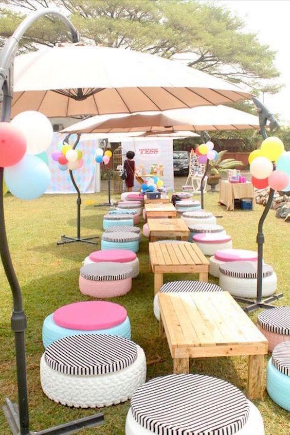 Fun and intimate backyard wedding.