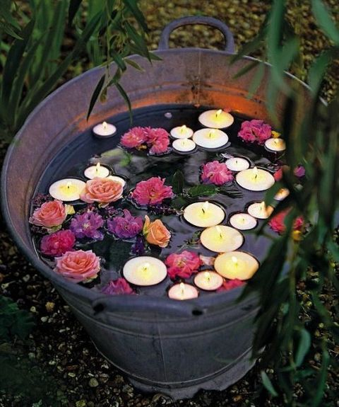 Vivacious Garden Boho Wedding Ideas Gather A Couple Of Buckets Candles Flowers And