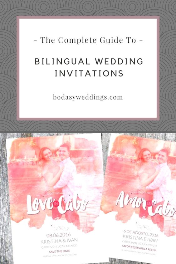 The complete guide to bilingual wedding invitations.