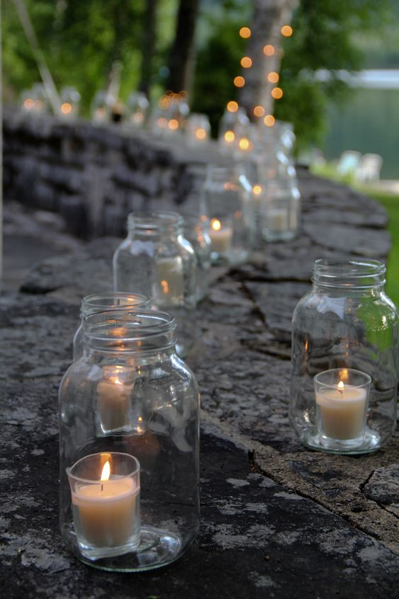 Light up your centerpieces to take them to an entirely new level! Outdoor wedding lighting.