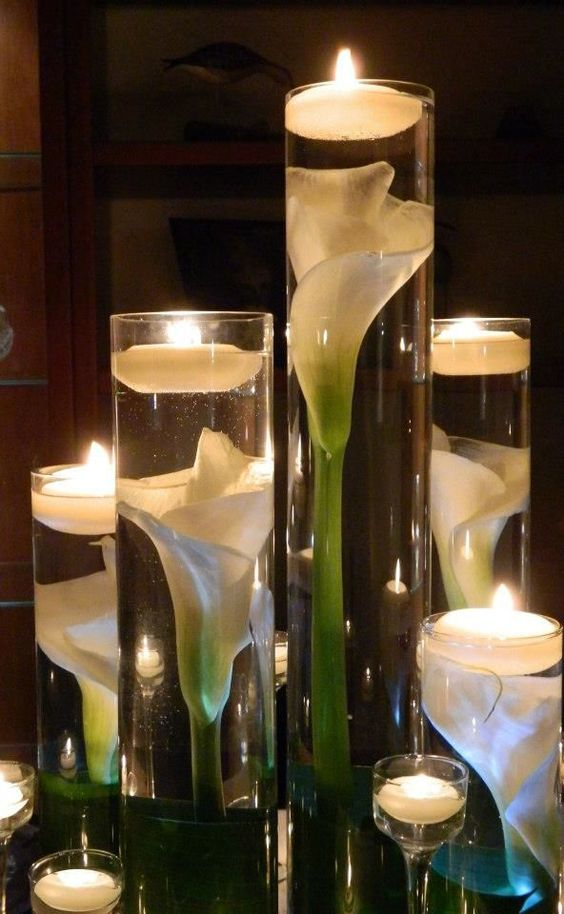Candle Amp Lighted Centerpieces For Wedding Receptions 24 Ideas