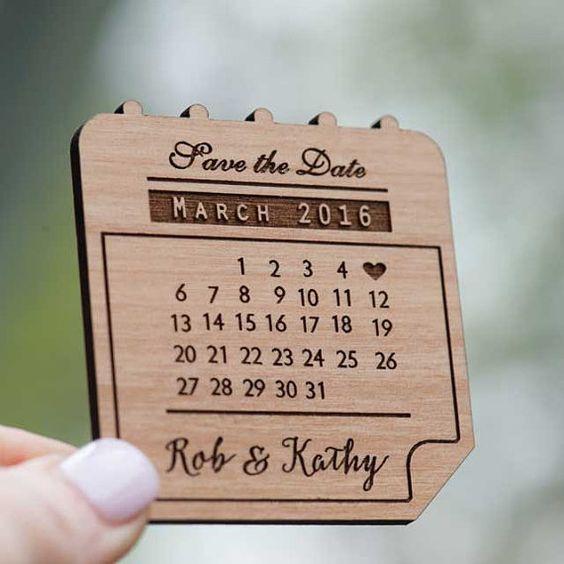 Super original DIY save the date magnets.