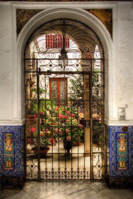 Imagine your reception at a place like the Patio del barrio de Santa Cruz, Sevilla.