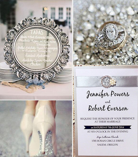 Silver wedding ideas.