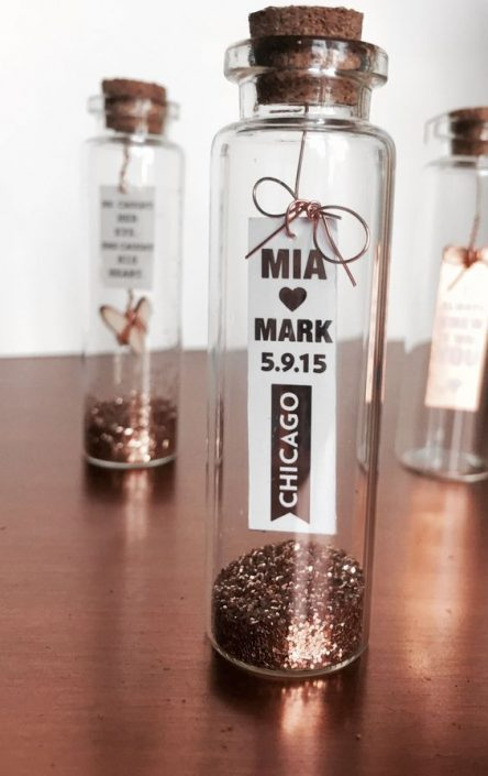 What a stylish way to announce your big city-day with this adorable little bottle.