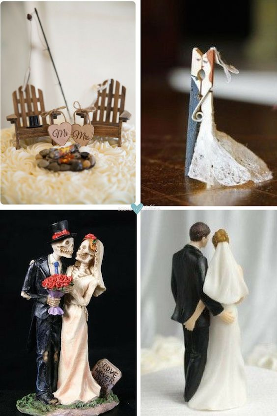 Choosing wedding cake toppers is sometimes harder than picking the cake.