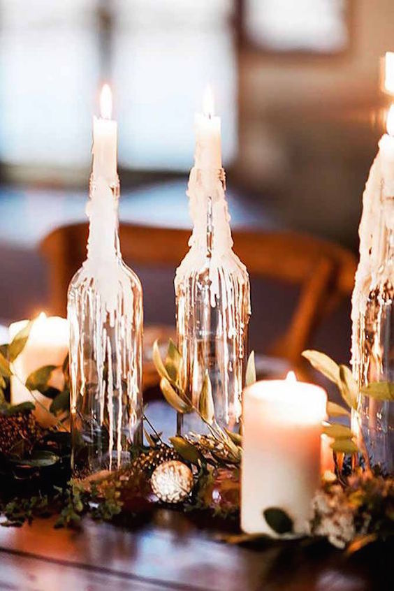 You could use candles in your centerpiece arrangement, decorate tables and chairs. Wedding lighting will create intimate charm on your wedding reception.