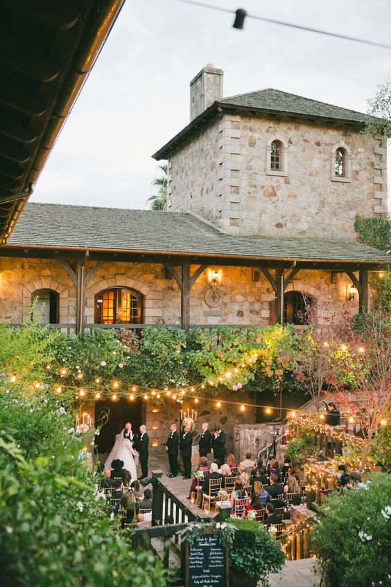 The wedding venue you pick will help you define and frame your wedding theme. V Sattui Winery. Event photographer: one love photography.