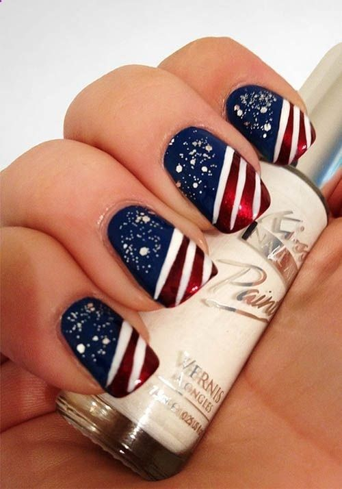 Definitely head over heels with these 4th of July nail art ideas.