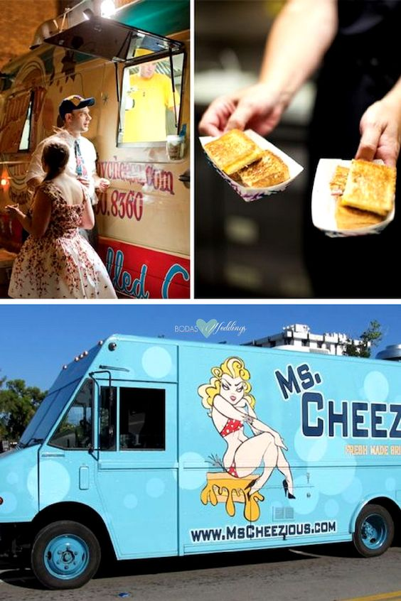 Food Trucks for Weddings. How does a grilled cheese sandwich sound after dancing all night long? Ms. Cheezious, fresh made grilled cheese, Miami.