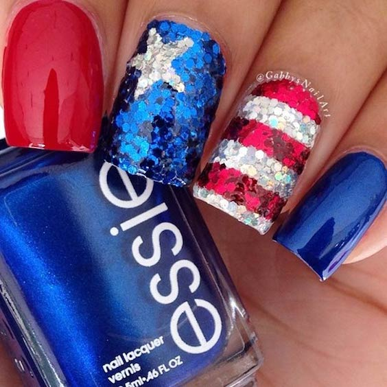 Fantastic Fourth of July nail design ideas.
