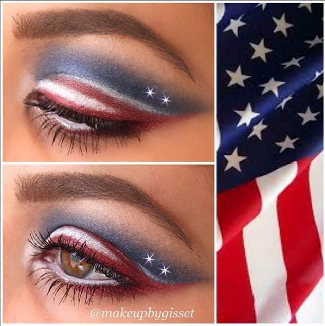 July 4th makeup look tutorial.