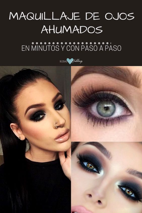 Maquillaje de ojos ahumados perfecto en minutos y con paso a paso.