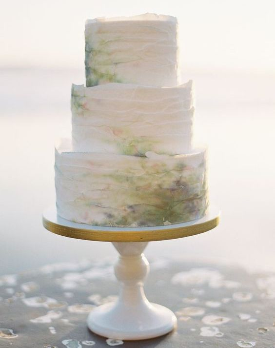 Seaside beach cake. Wedding Photography: Brett Heidebrecht.