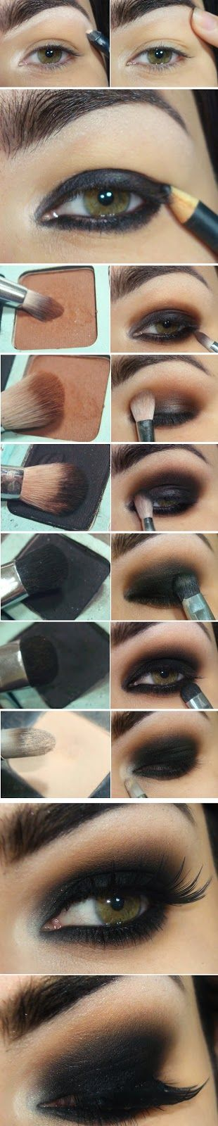 Tutorial de ojos ahumados en negro super famoso de LuLus Makeup Fashion.