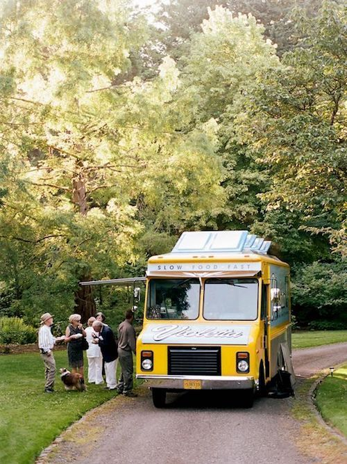 Several food trucks catered this wedding, including a late night visit by the Voodoo Doughnut truck.