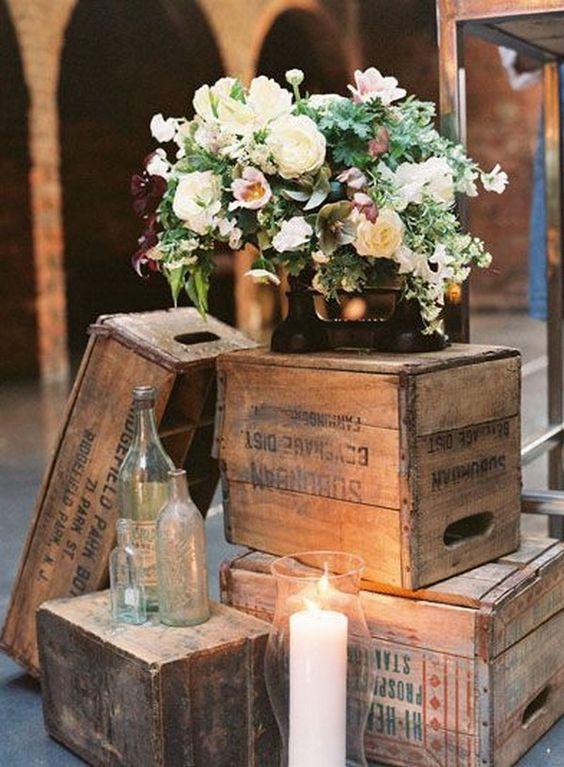 Como decorar una boda rústica vintage.
