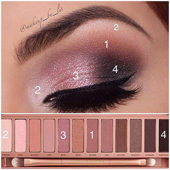 Como usar sombra rosa y verte increíble.