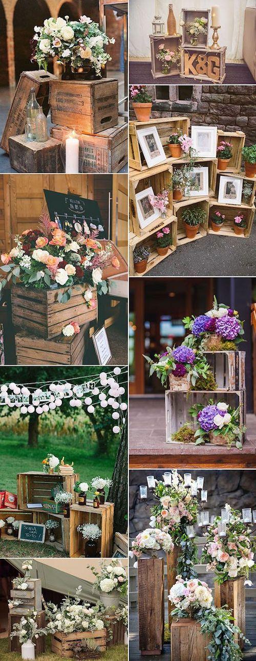 la decoracin con palets y cajones de madera incorporan un toque rstico o vintage de manera