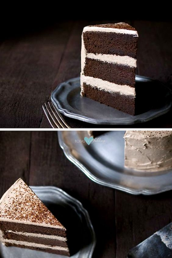 Offer your guests a dessert food truck. Especially if they serve this chocolate espresso layer cake. Yum!