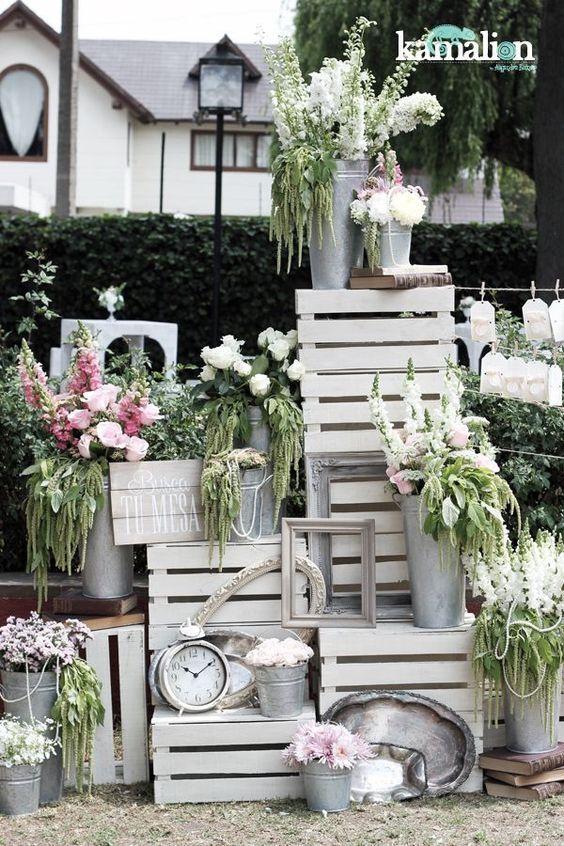 Decoraci n con palets y cajones de madera para bodas con paso a paso - Decoraciones originales para casas ...