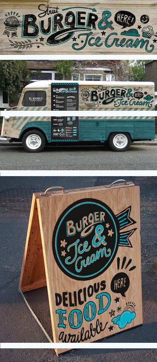 Definitely in love with these graphic design ideas for street food from Baetica.