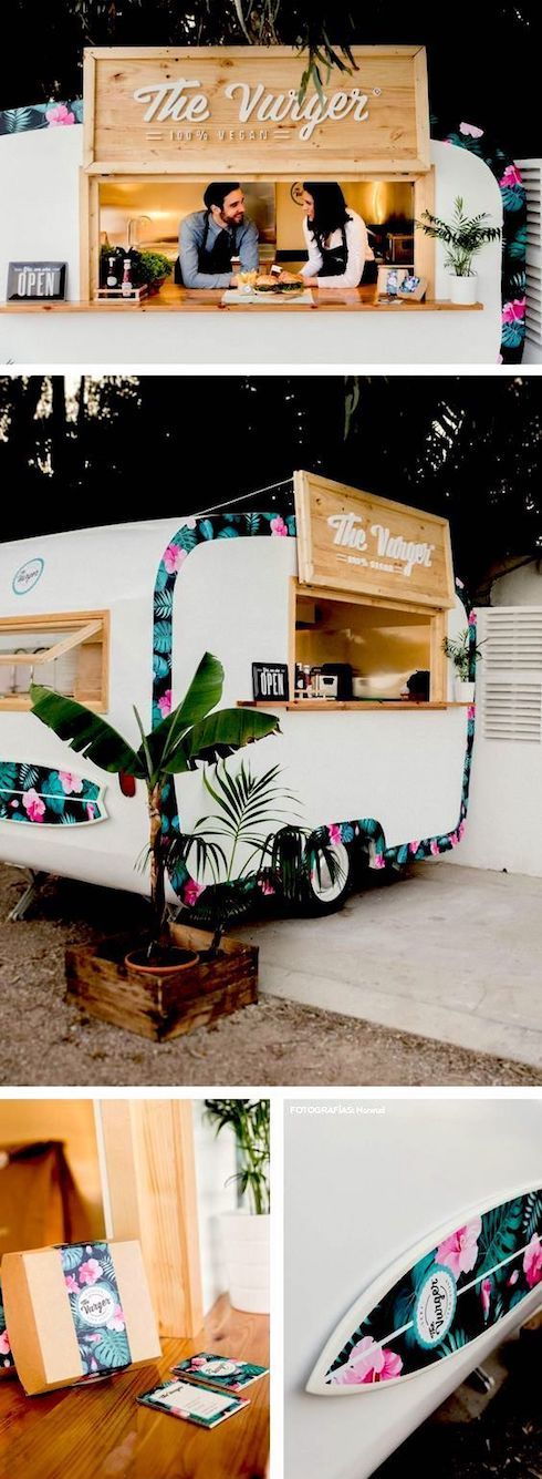 The Vurger Food Truck Caravan serves healthy food and one of the best vegan burgers in Valencia, Spain.