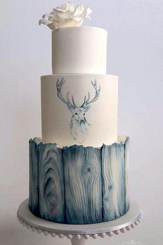 Sweet Little Treat's original creation: Rustic beach wedding cakes!