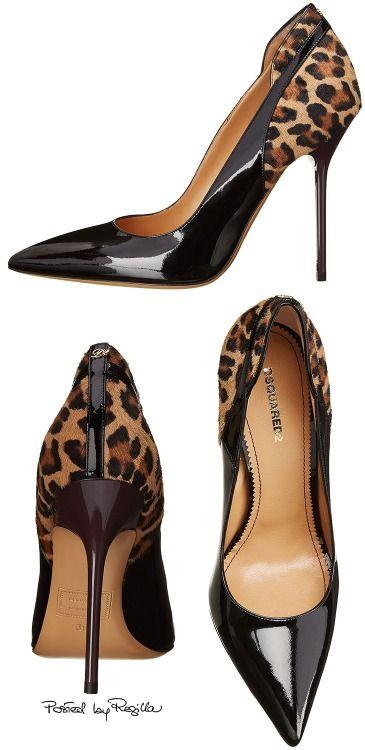 Clásicos zapatos de DSquared con piel de leopardo, puntas agudas y tacones aguja.