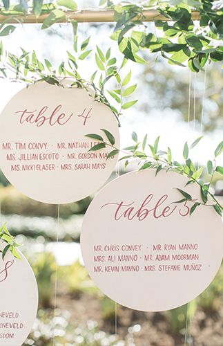 Table numbers and place cards in one. Aren't they adorable?