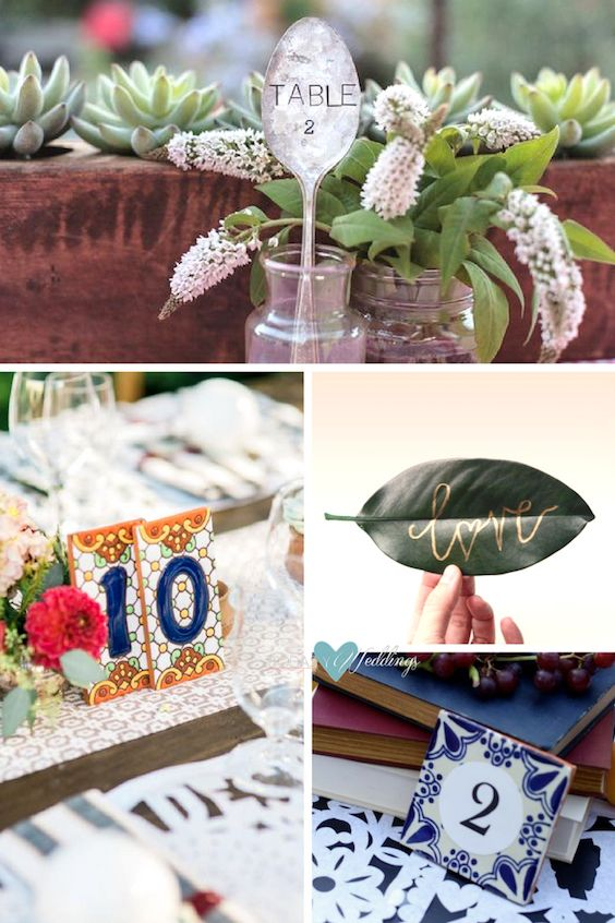 Unique Table Number Ideas.