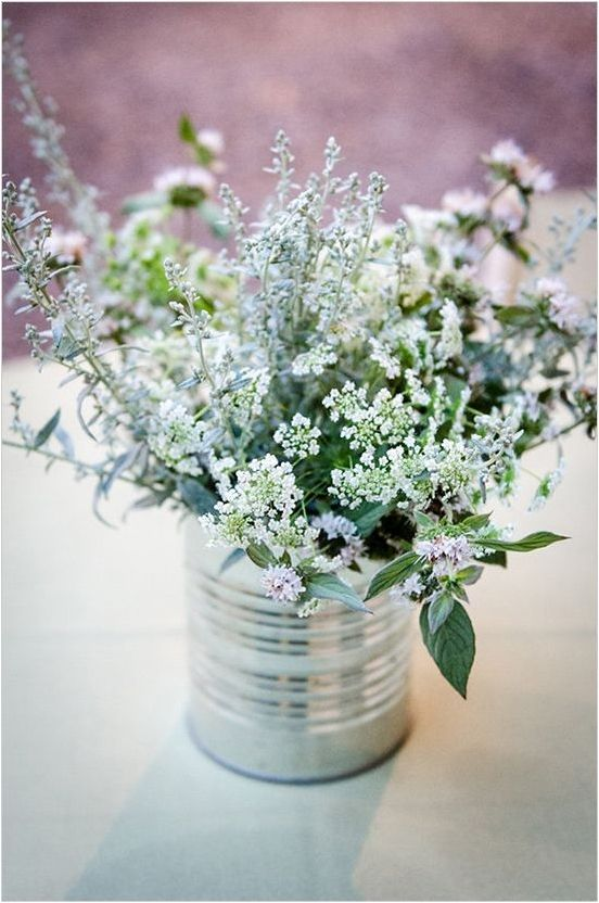 Adorable and affordable centerpieces.