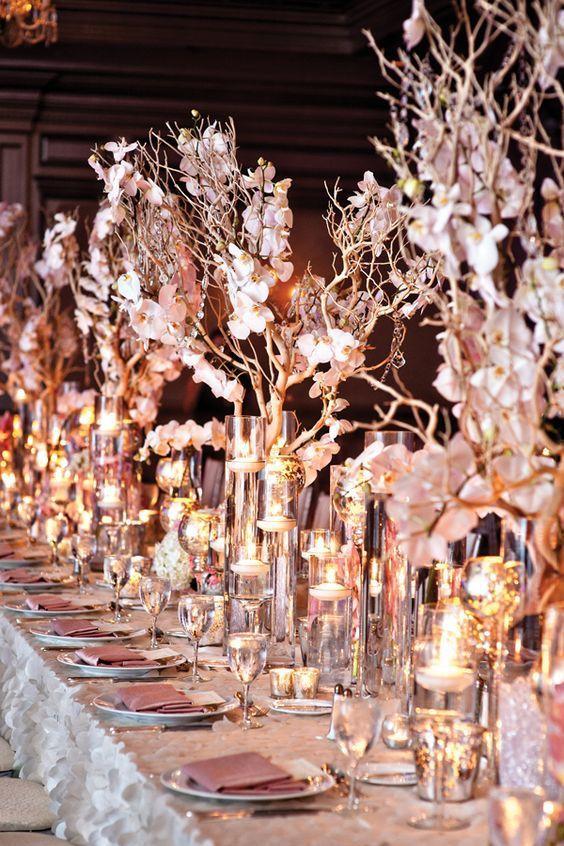 Todo el glamour brilla en esta boda en platino y oro rosado al mejor estilo del viejo Hollywood en Atlanta.