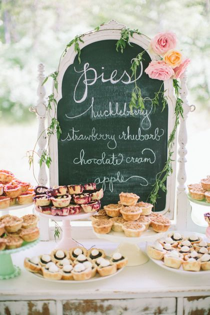 Add a board with a description of the delicious sweets to help your guests pick their favorites.