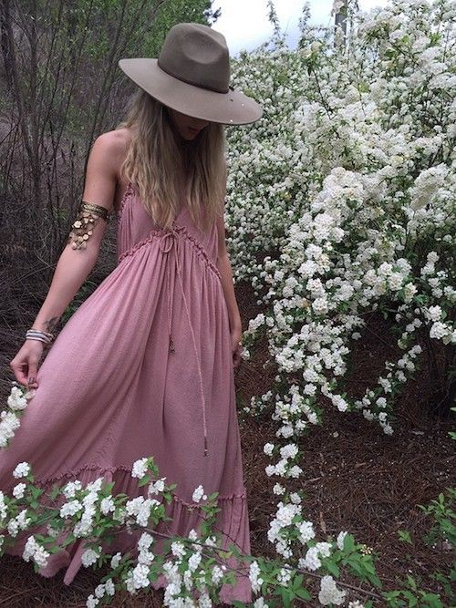 Non-traditional boho bride by freepeople.