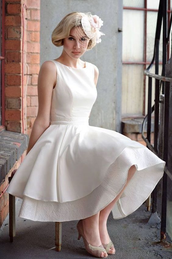 f you invest on a dress, how about one that you can use again? Short wedding dress.